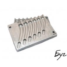 Форма для литья грузил Джиг-риг 22-40гр (L169 - Алюминий)